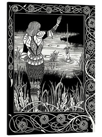 Aluminium print  How Sir Bedivere Cast the Sword Excalibur into the Water - Aubrey Vincent Beardsley
