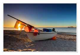 Premium poster Fishing boat on the Baltic Sea