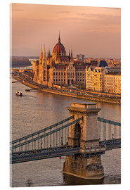 Acrylic print  Budapest late afternoon - Fine Art Images