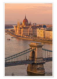 Premium poster  Budapest late afternoon - FineArt Panorama