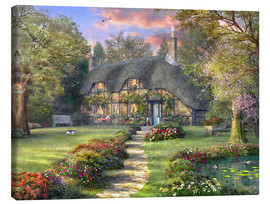 Canvas  Country house with rose garden - Dominic Davison