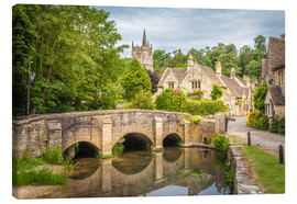 Canvas print  The village of Castle Combe, Wiltshire (England) - Christian Müringer