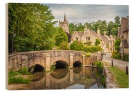 Wood print  The village of Castle Combe, Wiltshire (England) - Christian Müringer