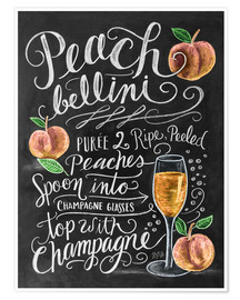 Premium poster Peach Bellini recipe