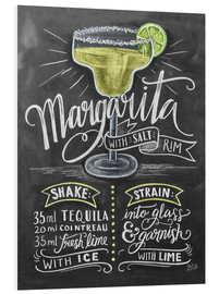 Foam board print  Margarita recipe - Lily & Val