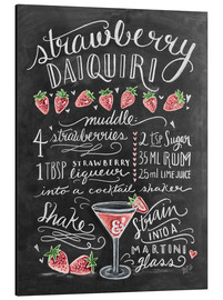 Aluminium print  Strawberry Daiquiri recipe - Lily & Val