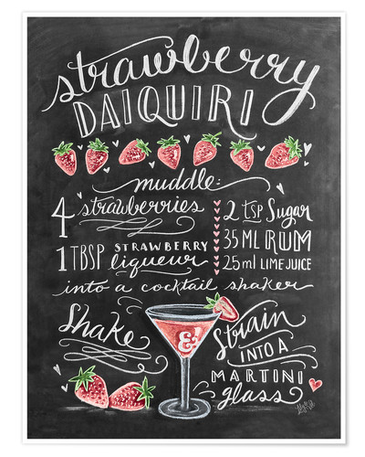 Premium poster Strawberry Daiquiri recipe