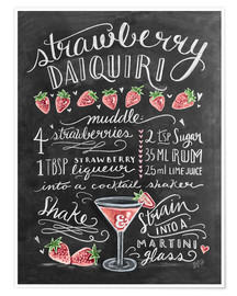 Poster Strawberry Daiquiri recipe