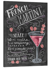 Aluminium print  French Raspberry Martini recipe - Lily & Val