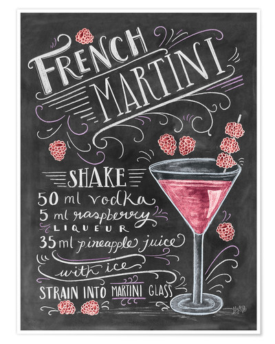 Poster French Raspberry Martini recipe