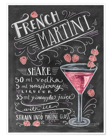 Premium poster French Raspberry Martini recipe