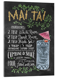 Acrylic glass  Mai Tai recipe - Lily & Val