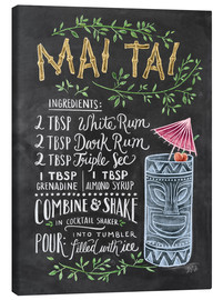 Canvas print  Mai Tai recipe - Lily & Val