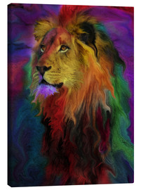 Canvas print  Rainbow Lion - Alixandra Mullins