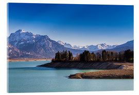 Acrylic print  Lake in Bavaria with Alps - Michael Helmer