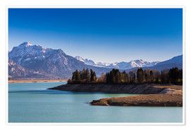 Premium poster  Lake in Bavaria with Alps - Michael Helmer