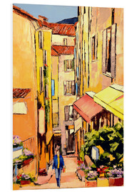 Foam board print  Market lane in the evening light - JIEL