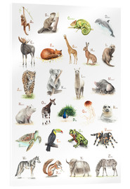 Acrylic print  ABC animals (German) - Nadine Conrad