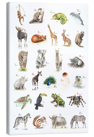 Canvas print  ABC animals (German) - Nadine Conrad
