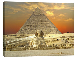 Canvas print  Sphinx from Gizeh - Tina Melz