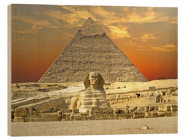 Wood print  Sphinx from Gizeh - Tina Melz