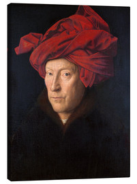 Canvas print  Man with a red turban - Jan van Eyck