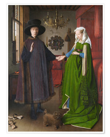Premium poster  Arnolfini Wedding - Jan van Eyck