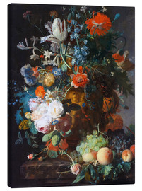 Canvas print  Still Life with Flowers and Fruit - Jan van Huysum