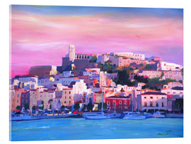Acrylic glass  Ibiza Old Town and Harbour - Pearl Of the Mediterranean Sea - M. Bleichner