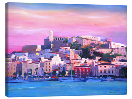 Canvas  Ibiza Old Town and Harbour - Pearl Of the Mediterranean Sea - M. Bleichner