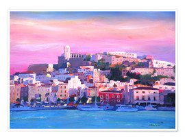 Premium poster Ibiza Old Town and Harbour - Pearl Of the Mediterranean Sea