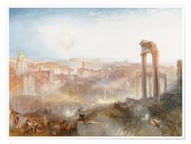Poster  Modern Rome - Joseph Mallord William Turner