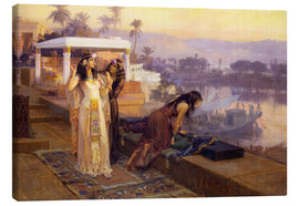 Canvas  Cleopatra on the terraces of philae - Frederick Arthur Bridgman