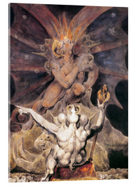 Acrylic glass  the number of the beast is 666 - William Blake