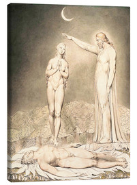 Canvas  the creation of eve - William Blake