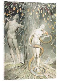 Acrylic print  Adam and Eve - William Blake