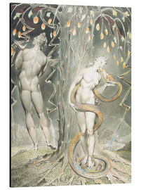 Aluminium print  Adam and Eve - William Blake