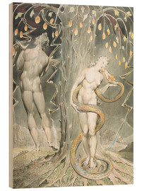 Wood print  Adam and Eve - William Blake