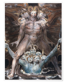Premium poster  The Great Red Dragon and the Beast From the Sea - William Blake