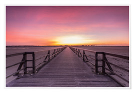 Premium poster Long jetty at the beach of St. Peter Ording