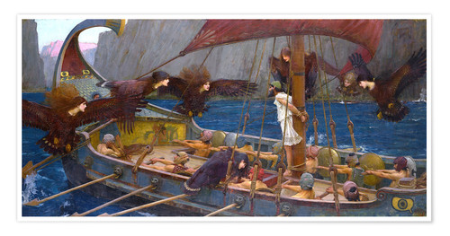 Premium poster Odysseus and the Sirens