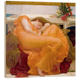 Wood print  Flaming June - Frederic Leighton