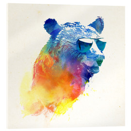 Acrylic print  Colorful bear - Robert Farkas