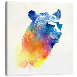Canvas print  Colorful bear - Robert Farkas