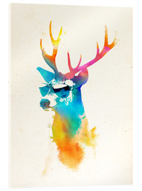 Acrylic glass  Colorful deer - Robert Farkas