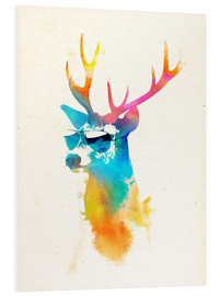 Foam board print  Colorful deer - Robert Farkas
