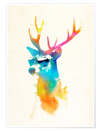 Poster  Colorful deer - Robert Farkas