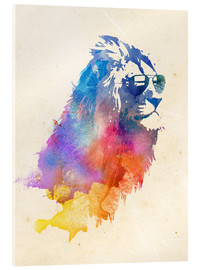 Acrylic print  Colorful lion - Robert Farkas
