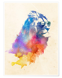 Premium poster  Colorful lion - Robert Farkas