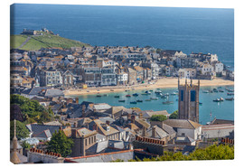 Canvas print  Overlooking St. Yves in Cornwall, Engalnd) - Christian Müringer